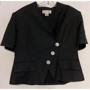 Christian Dior Vintage Black Blazer Size 16